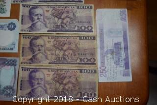 Large Lot of (33) Mixed Foreign Bank Notes