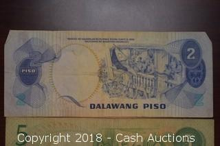 Lot of (3) Misc. Philippine Foreign Bank Notes