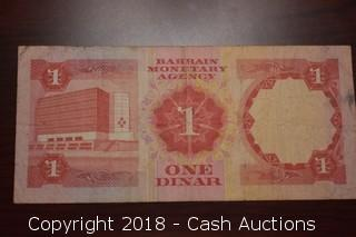 Undated Bahrain $1 Foreign Bank Note