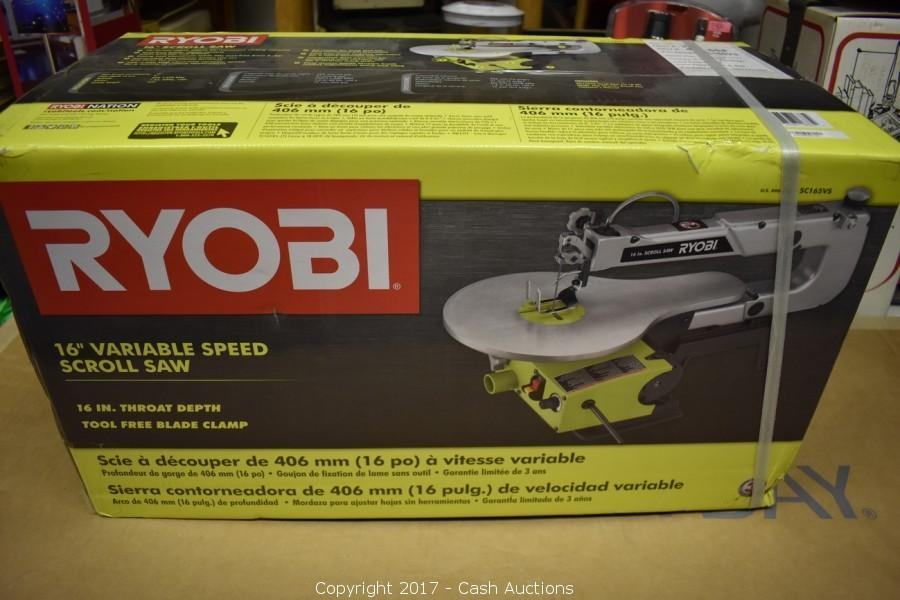 Cash auctions auction surplus tools fixtures item ryobi 16 ryobi 16 variable speed scroll saw greentooth Gallery