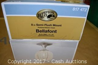 "Hampton Bay 8"" Semi-Flush Mount ""Bellafont"" Light"