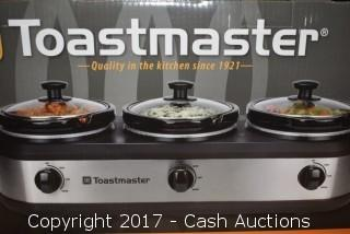 Toastmaster 3 Crock Warming Tray