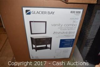 "Glacier Bay Ashland 36.5"" Vanity w/ Top and Mirror (Chocolate)"