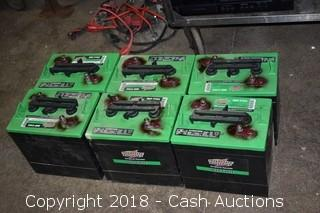 Lot of (6) Interstate Deep Cycle Batteries