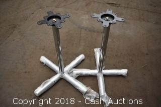 Pair of New Chrome Table Bases