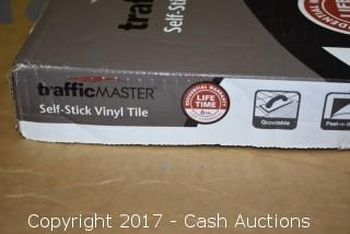 (10 Cases) TrafficMaster Groutable 18x18 Taupe Cotto Peel and Stick Vinyl Tile
