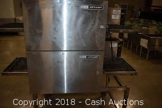 Lincoln Impinger 1116-000-A Double Conveyor Oven w/ Rolling Stand