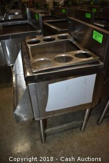 Prestige Stainless Ice Bin w/ Speed Rack & Bottle Inserts