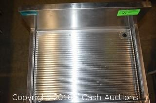 Prestige Stainless Under Bar Drain Board w/ Speed Rack