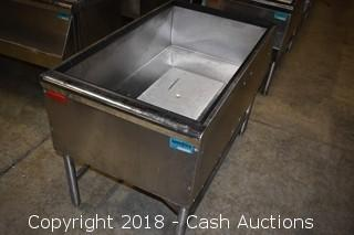 Large Prestige Stainless Ice Bin w/ Speed Rack
