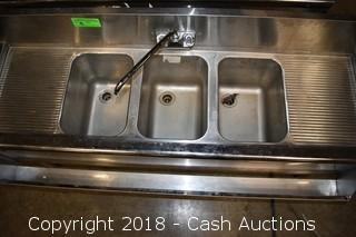 Stainless Steel 3-Bay Sink