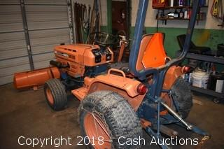 Kubota B6200 HST Tractor w/ Plow and Mowing Deck