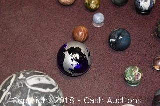 Lot of Decorative Marble Spheres