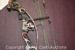 Compound Bow & (2) Fishing Poles