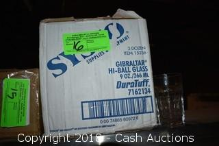 Case of (36) 9 oz Gibraltar Hi-Ball Glasses