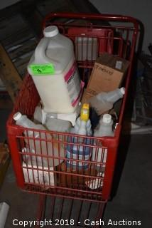 Cart of Cleaning Supplies