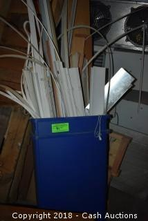 Bin of Horizontal Blinds