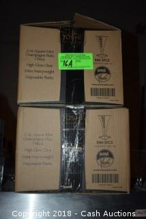 (2) Cases of 2 oz. Plastic Champagne Flutes