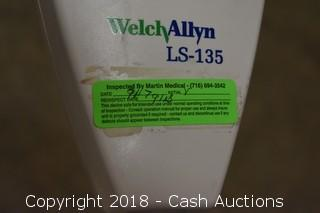 (2) Welch-Allyn LS-135 Halogen Exam Lights