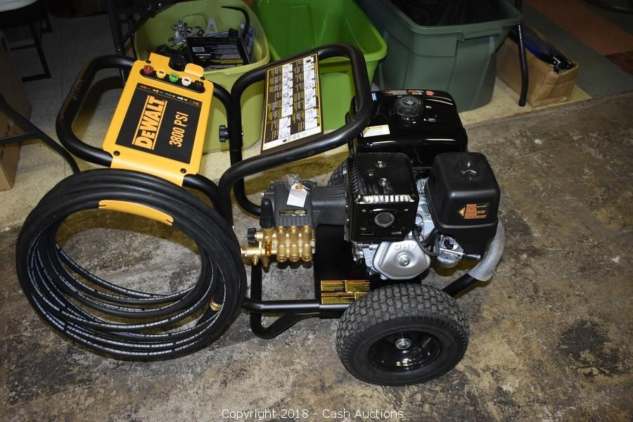 Cash Auctions Auction Storage Clean Out In Niagara Falls Part Two Item Dewalt 3800 Psi Gas Pressure Washer