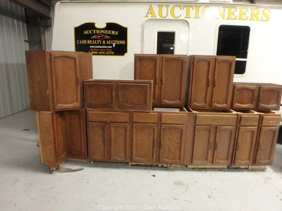 Cash Auctions Auction Sliding Glass Doors Windows And Kitchen Cabinets Item Used 11 Piece Kitchen Cabinet Set