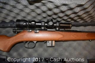 Marlin Model 25MN .22wmr Rifle w/ Tasco Scope and Case