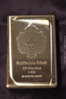 Scottsdale Silver 1 Kilogram .999 Silver Bar