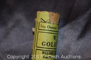 Williams Gold 1/40 Oz Gold Tube