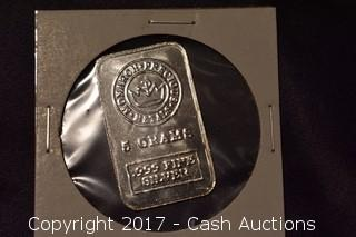 Monarch Precious Metals 5 Gram .999 Silver Bar