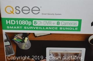 QSee 1080p 8 Channel DVR & 8 Surveillance Camera Bundle