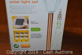 ReThink 6-Pack Outdoor Solar Path Light Set
