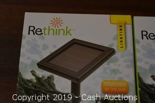 (2) ReThink Outdoor Solar Powered 60 String Light Set