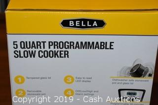 Bella 5-Quart Programmable Slow Cooker