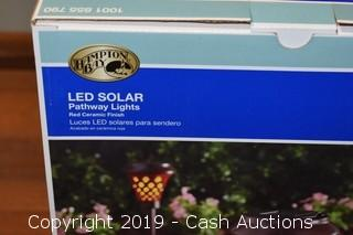 Hampton Bay 4-Pack LED Solar Pathway Lights