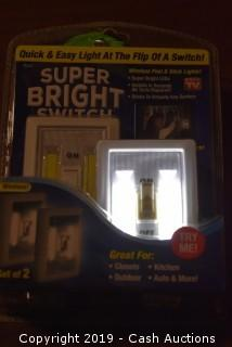 Super Bright LED Light Switch 2-Pack