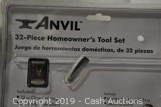 Anvil 32-Piece Homeowners Tool Set