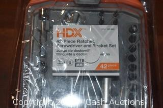 HDX 42-Piece Ratchet, Screwdriver & Socket Set