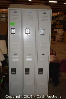 Section of (6) Lockers
