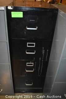 Black Four Drawer Filing Cabinet