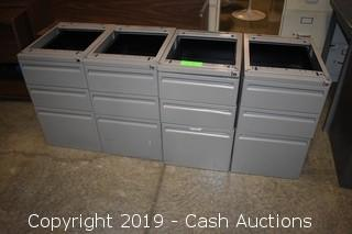 (4) Under Counter Filing Cabinets
