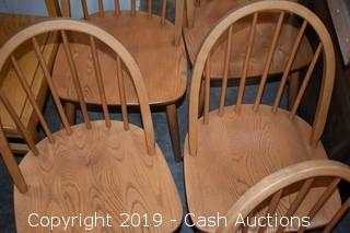 (6) Childrens Wooden Arch Back Chairs