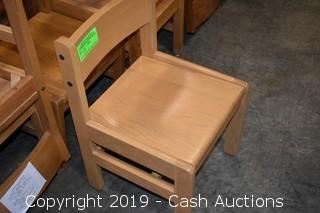 (61) Childrens Wooden Chairs