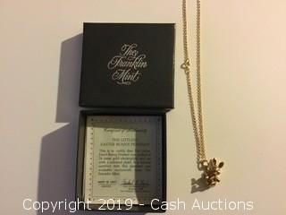 "1983 Franklin Mint ""The Littlest Easter Bunny"" Pendant"