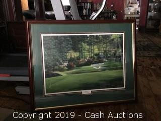 Signed Golf Lithograph: Golden Bell #12 by Marci L. Rule
