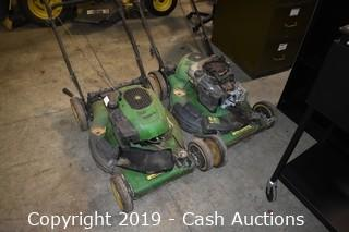 (2) John Deere JS26 Parts Lawnmowers