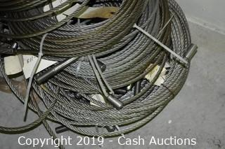 Lot of Braided Steel Cable