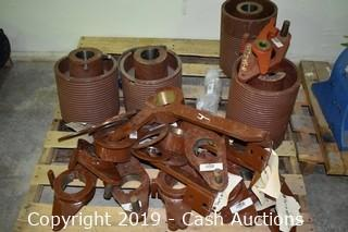 Pallet of Flanges & Pump Parts