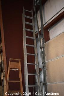 40' Aluminum Extension Ladder on Wall