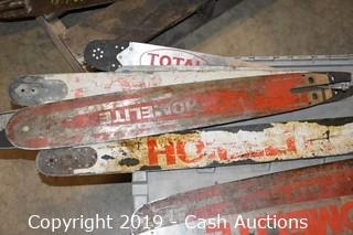 Lot of (16) Chainsaw Bars