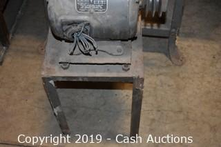 Lincoln 3-Phase Electric Motor w/ Stand
